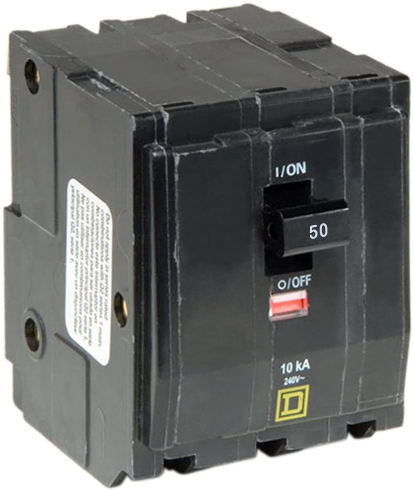 Square D by Schneider Electric QO350CP QO 50 Amp Three-Pole Circuit Breaker,
