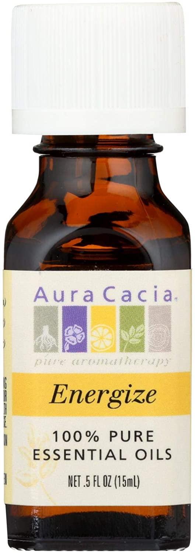 Aura Cacia 100% Pure Essential Oils Energize - 0.5 fl oz