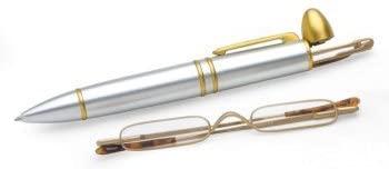 Concorde Bright Chrome Pen Reader, Gold/Gold, 3.00