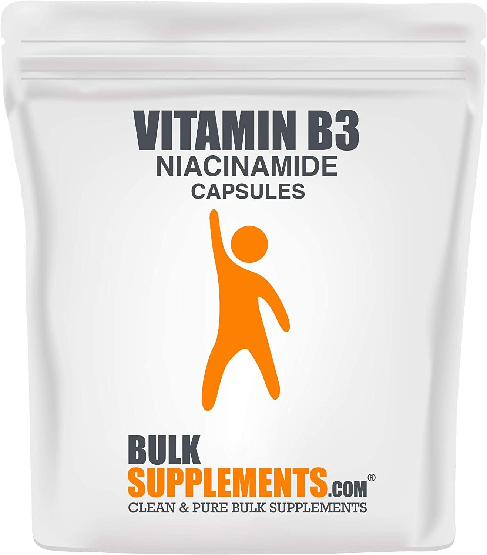 BulkSupplements Vitamin B3 (Niacinamide) Capsules (100 Gelatin Capsules)