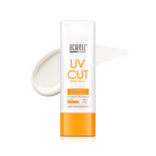 ACWELL UV Cut Waterproof Sun Cream 50g, SPF50+ PA++++ [Made in Korea]
