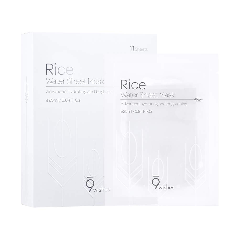 [9wishes] Rice Water Sheet Mask 11 sheets 25ml, 0.84fl.oz