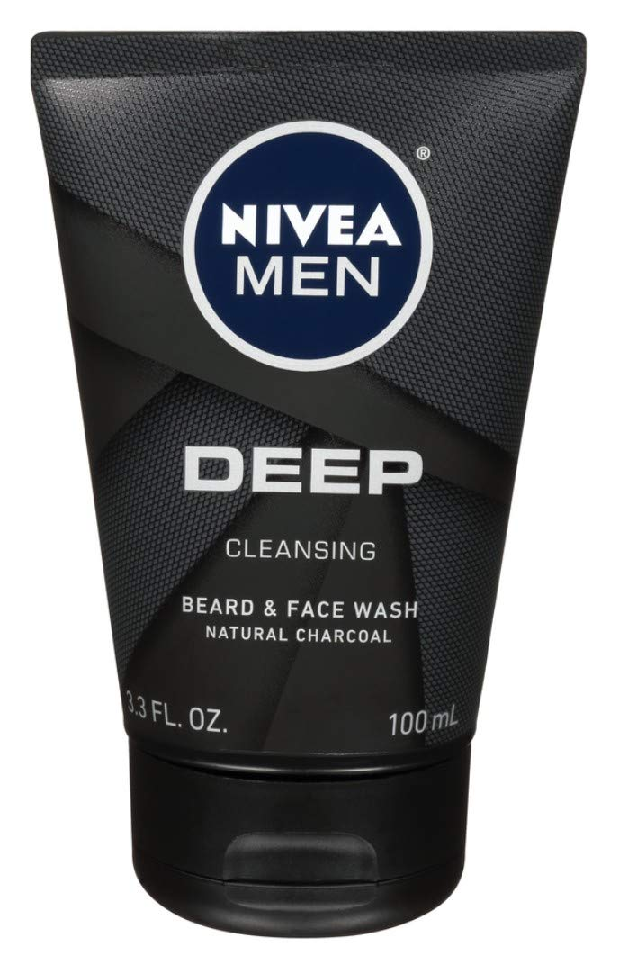 Nivea Men Deep Cleansing Beard And Face Wash 3.3 Ounce (100ml) (2 Pack)