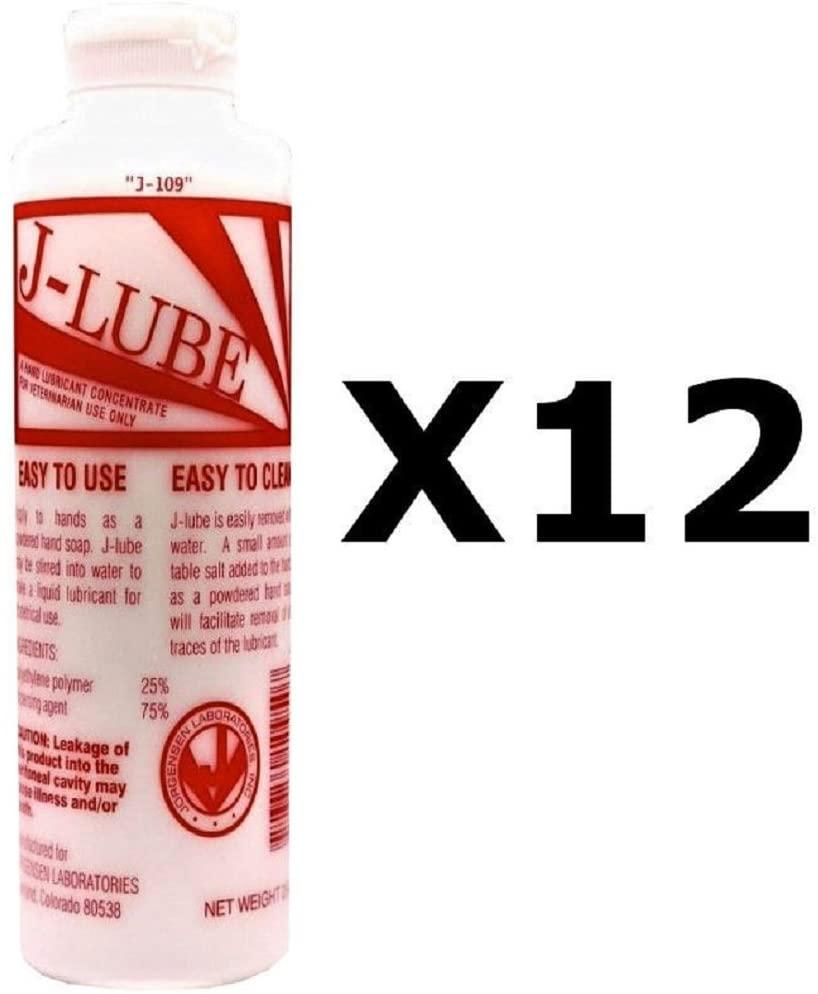 J-Lube Anal Sex, Fisting Powder Mix Water Anal Personal Lubricant Makes 6-8 Gal 10 Oz Lube (12x296 ml / 10 oz)