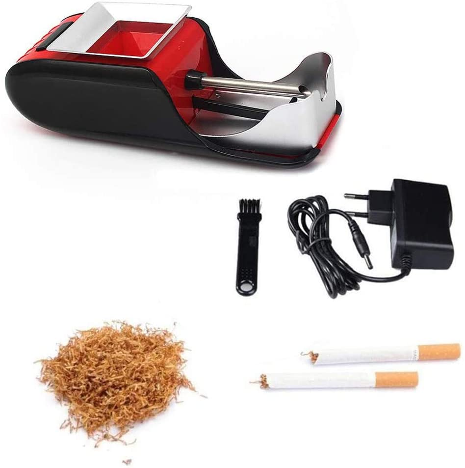 Wgwioo Automatic Cigarette Rolling Machine, Electric Tobacco Injector Roller Maker, for Father and Teacher Birthday Gift,Red
