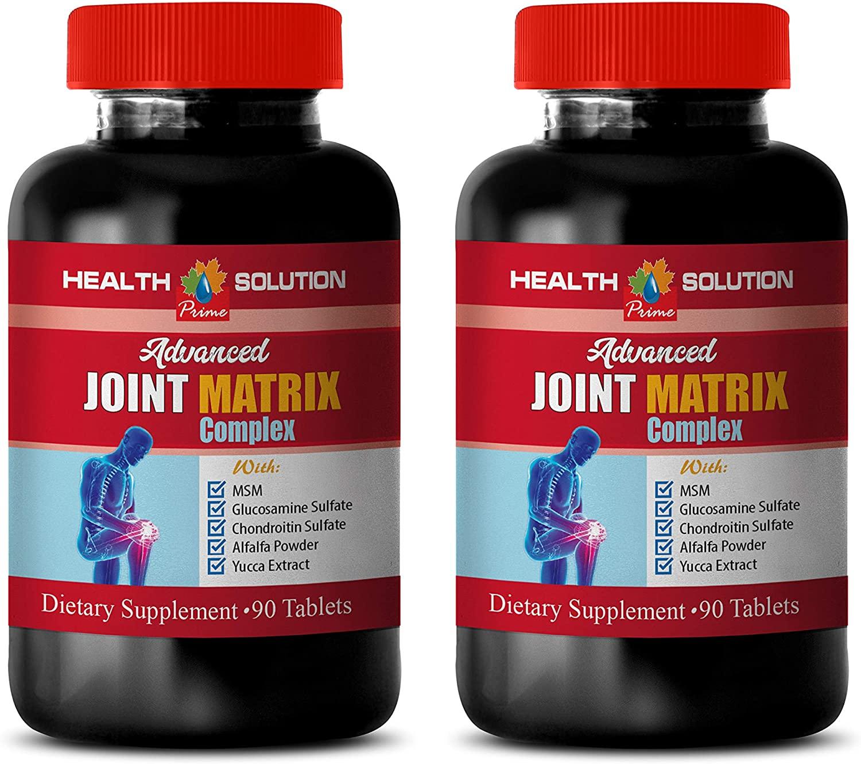 Bone Vitamins - Advanced Joint Matrix Complex - glucosomine with msm - 2 Bottles 180 Tablets