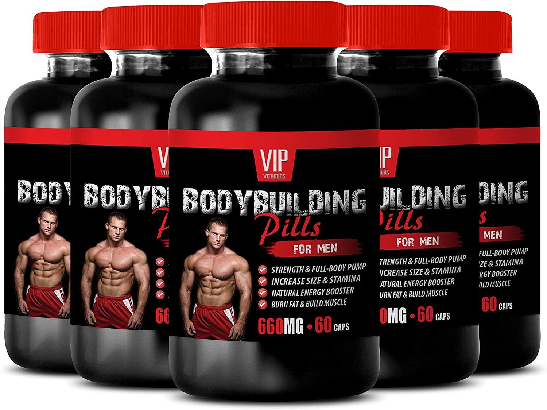 Build Muscle Burn Fat - Bodybuilding Pills for Men 660MG - Alpha lipoic Acid Supplement - 5B (300 Capsules)