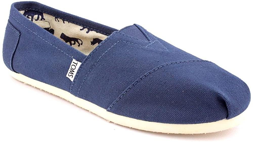 TOMS Women's Canvas Slip-On Shoe (8.5, Navy)