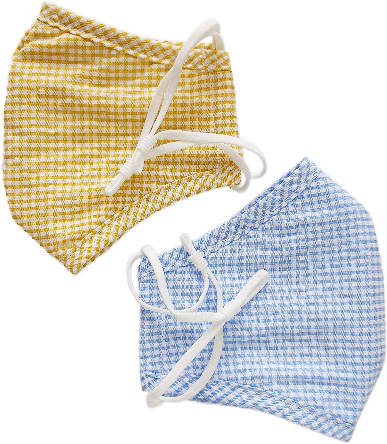 Tektide Cotton Face Covering,Triple Layers, Washable, Reusable, Easily Dried, 100% Cotton [Pack 2] [Mixed Color 3]