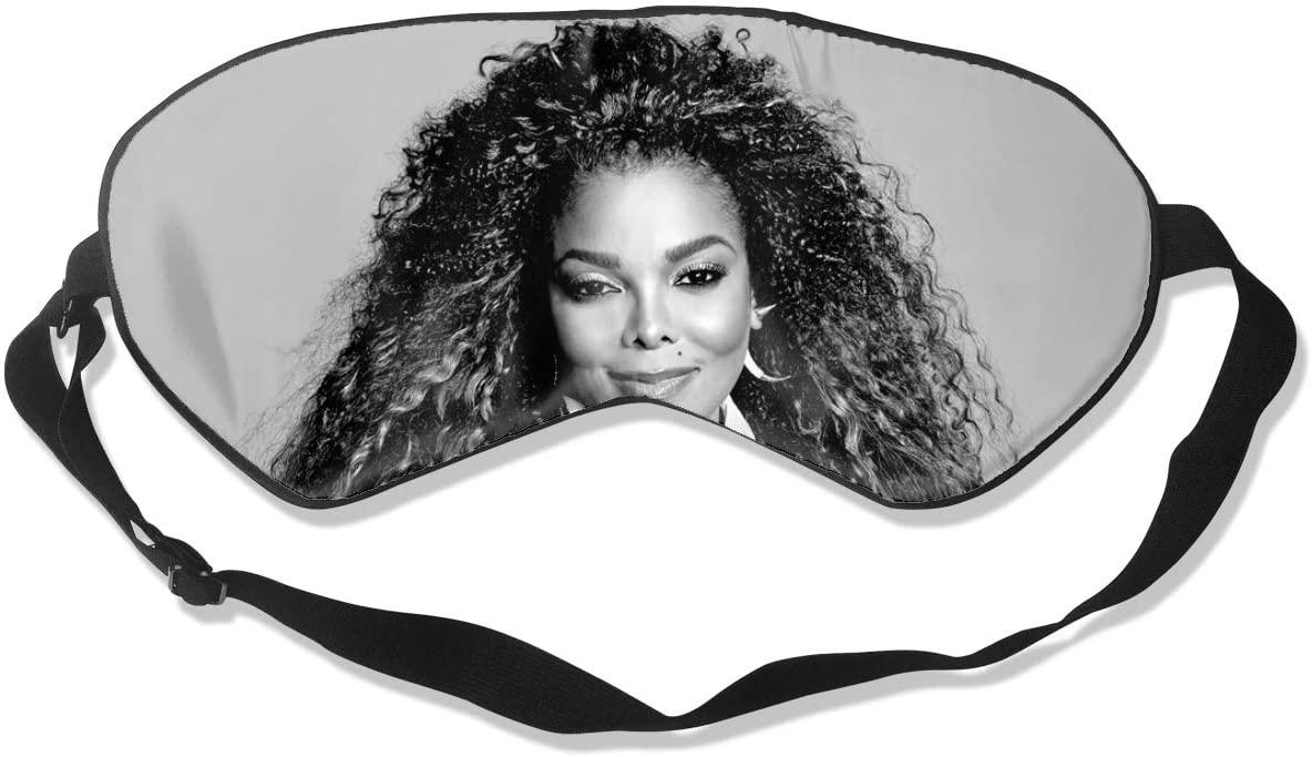 WushXiao Luanelson Janet Jackson Fashion Personalized Sleep Eye Mask Soft Comfortable with Adjustable Head Strap Light Blocking Eye Cover