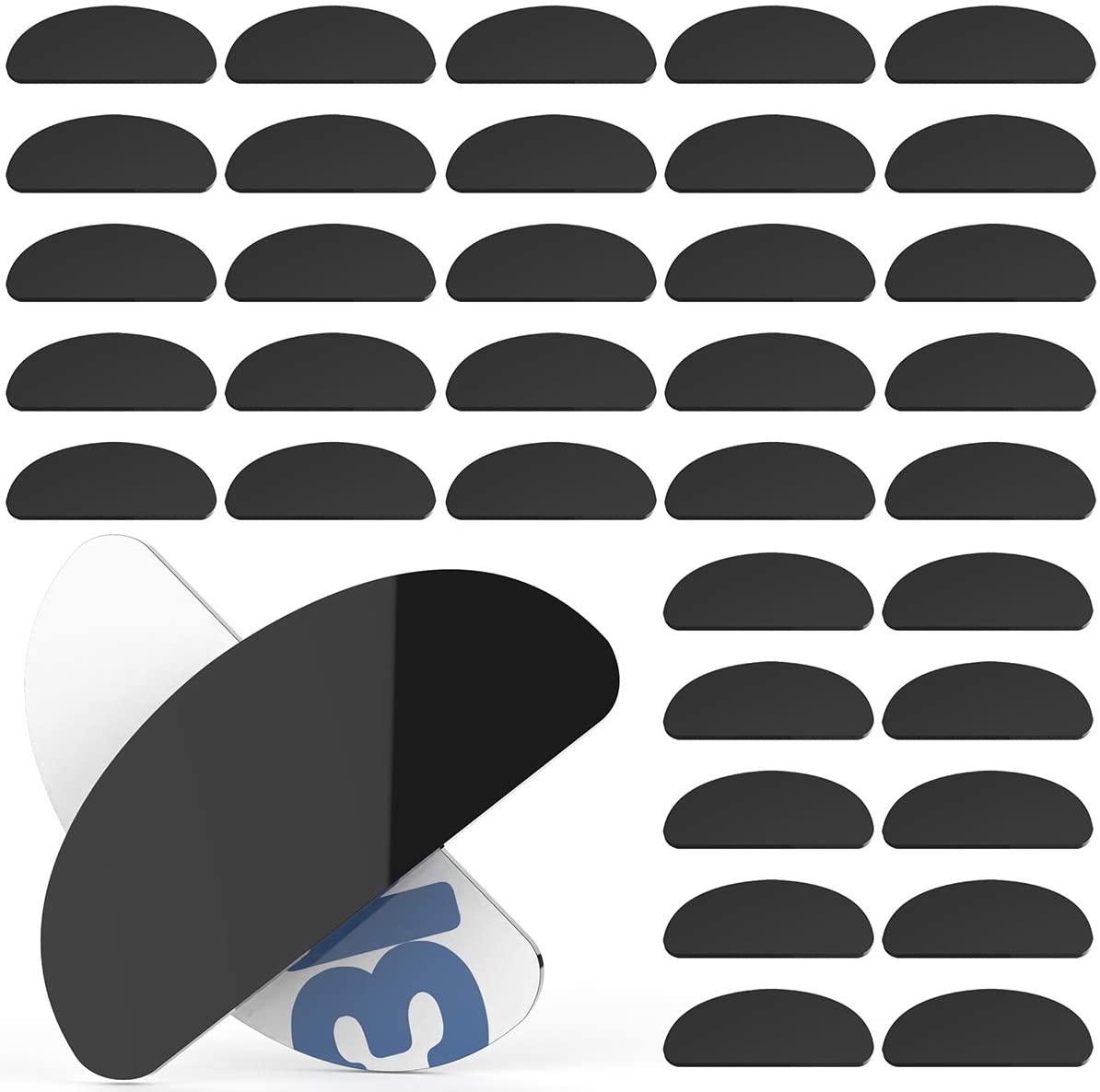 20 Pairs Nose Pads for Eyeglasses Silicone Adhesive Anti-Slip Eyeglass Nose Pads Sunglasses (Black)