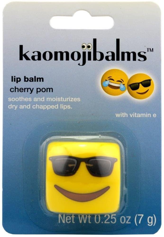 Kaomojibalms Lip Balm - Sunglasses - Cherry Pom