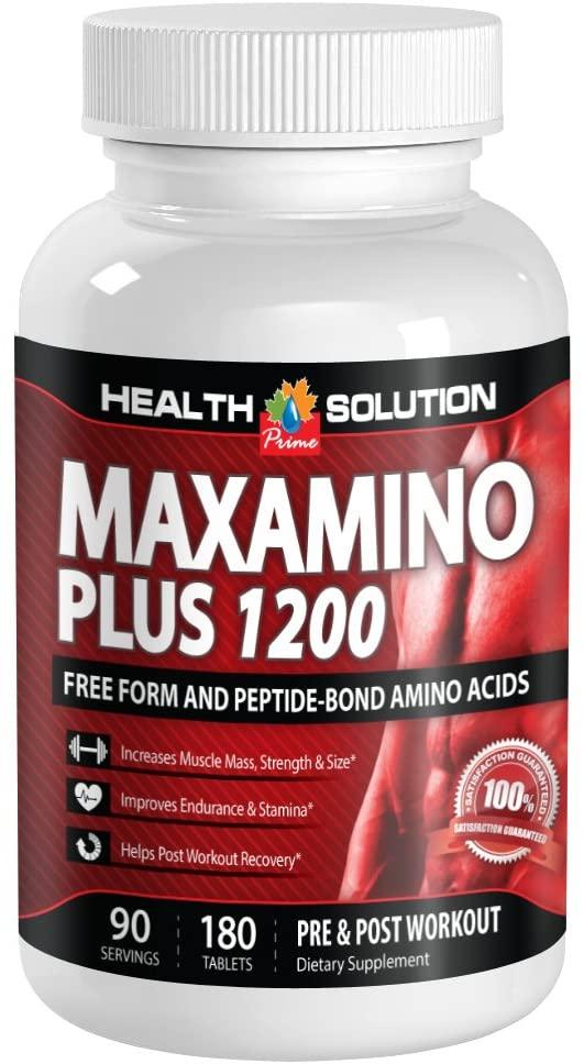 L lysine Powder - MAXAMINO Plus 1200 - Maintain Muscles (1 Bottle)