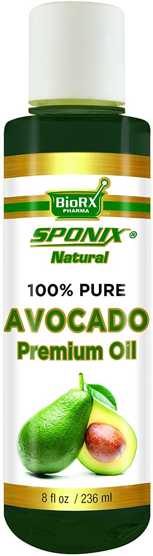 Best Avocado Oil - Top 100% Pure Avocado Oil for Skincare and Haircare - Premium Grade USDA Organic - 8 oz by Sponix