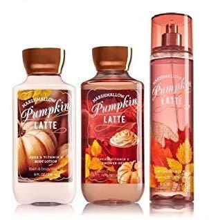 Bath & Body Works Comfort Pumpkin Latte & Marshmallow Gift Set Lotion ~ Fragrance Mist & Shower Gel
