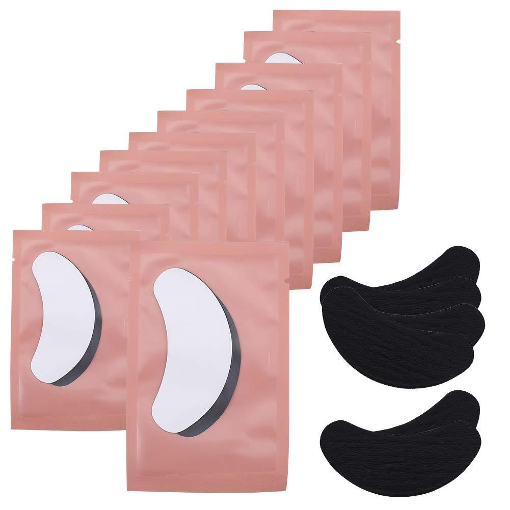 60 Pairs Under Eye Pads, PChero 100% Natural Hydrogel Eye Patch Lash Gel Pad for Eyelash Extensions Supplies, Perfect Beauty Makeup Eye Mask Kit
