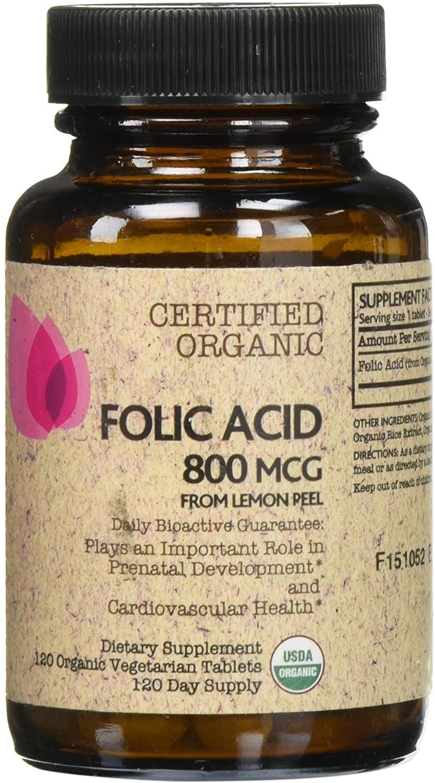 Futurebiotics Certified Organic Folic Acid - 120 Tablets