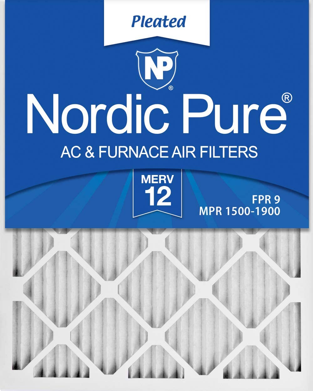 Nordic Pure 16x32x1 MERV 12 Pleated AC Furnace Air Filters 3 Pack