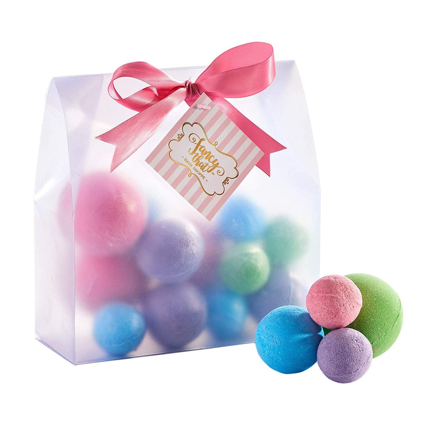 Scented Assorted Size Peony Lavender Lime Ocean Bath Bombs 13 Piece Gift Set