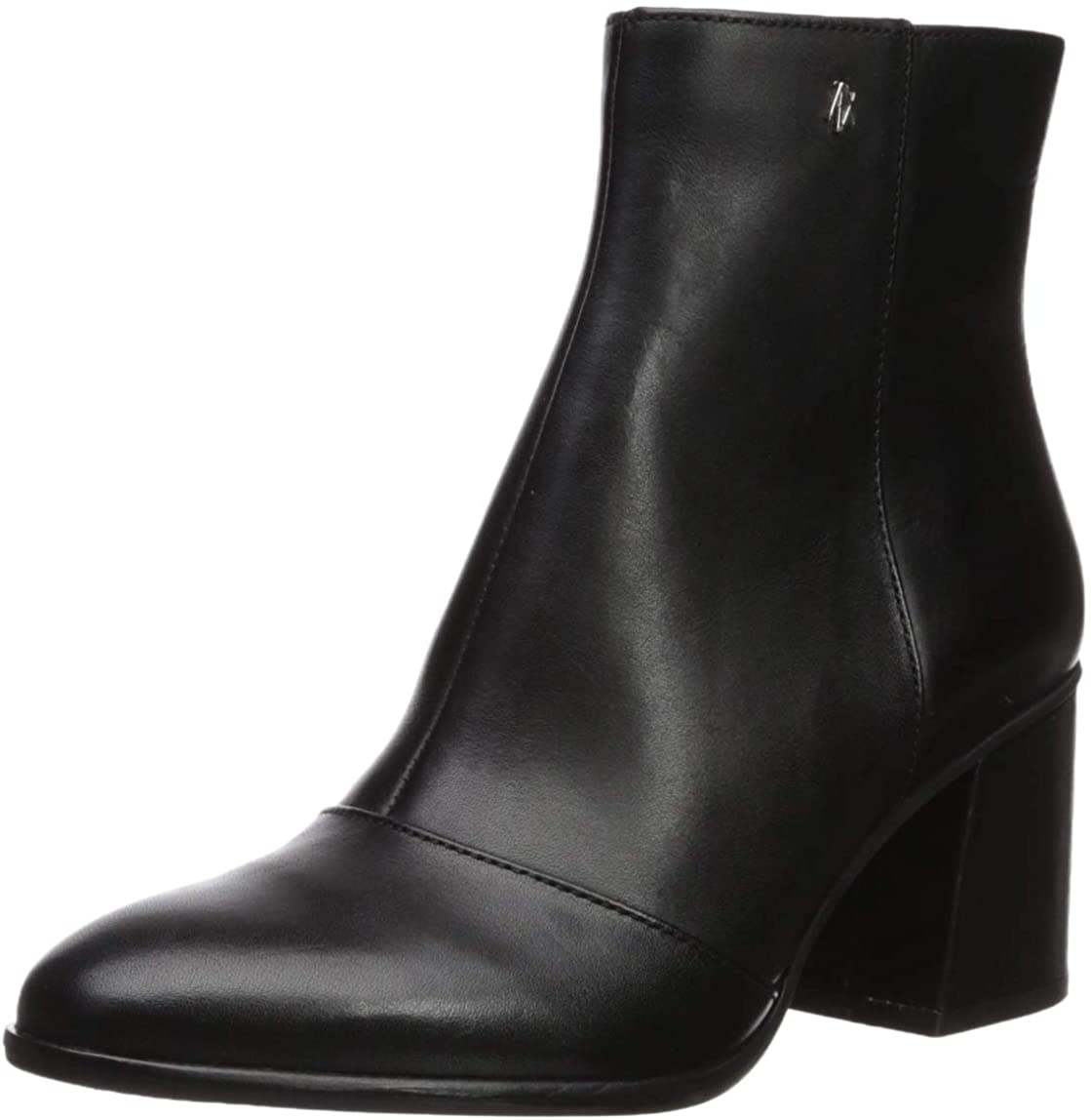 AX Armani Exchange Womens Smooth Leather Boot with Block Heel Fashion