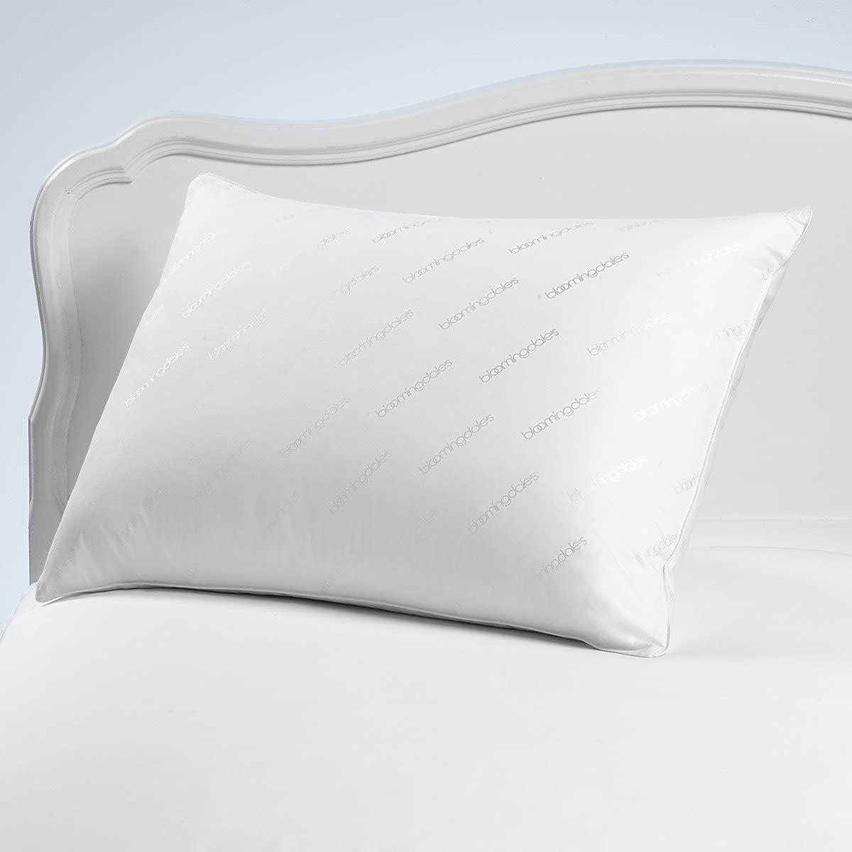 Bloomingdale's Jumbo Logo Classic STANDARD QUEEN Bed Pillow