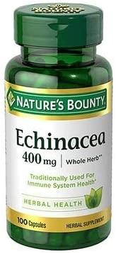 Nature's Bounty Echinacea 400 mg Capsules - 100 ct, Pack of 5