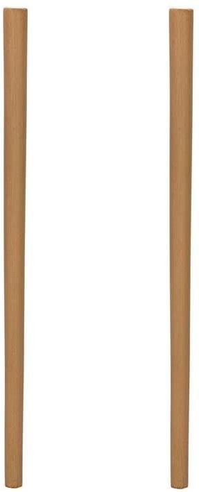 2 Pcs Natural Bamboo Drinking Straws Reusable Bamboo Straws 9 Inch By Crqes