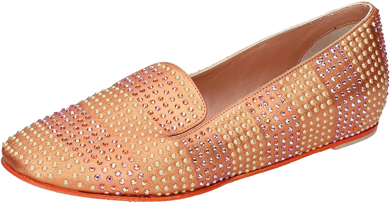 EDDY DANIELE Flats-Shoes Womens Leather Orange