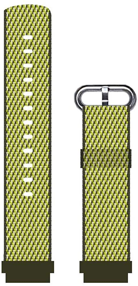 DuiGong Woven Nylon Strap Compatible for Garmin vivoactive 4/4S Replacement Band with Buckle-Black