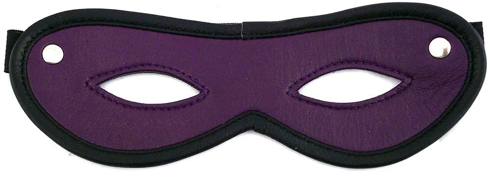 Rouge Garments Unisex-Adult's Leather Open Eye Mask, One Size, Purple