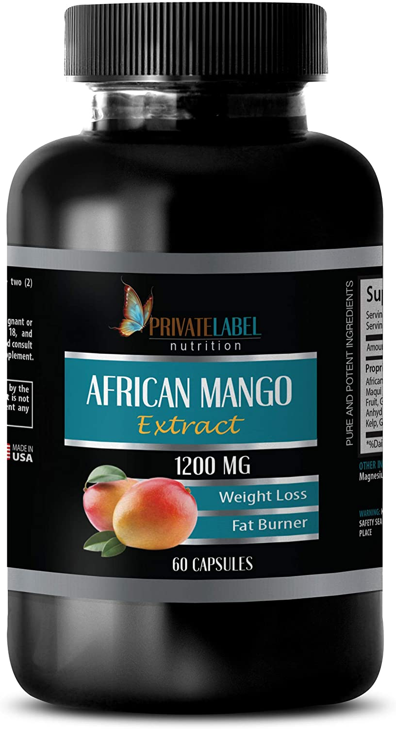 Weight Loss for Women - African Mango Extract 1200 MG - African Mango Fat Burner - 1 Bottle (60 Capsules)