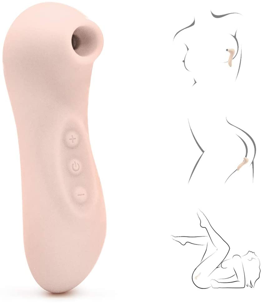 Hands Free Clitorial Sucking Toy for Women, Automatic 7 Different Sucking Modes with 7 Patterns Vibration, Rechargeable Portable Habdheld Tongue Clitorial Vibrating Pussey Stimulator for Her Tshirt