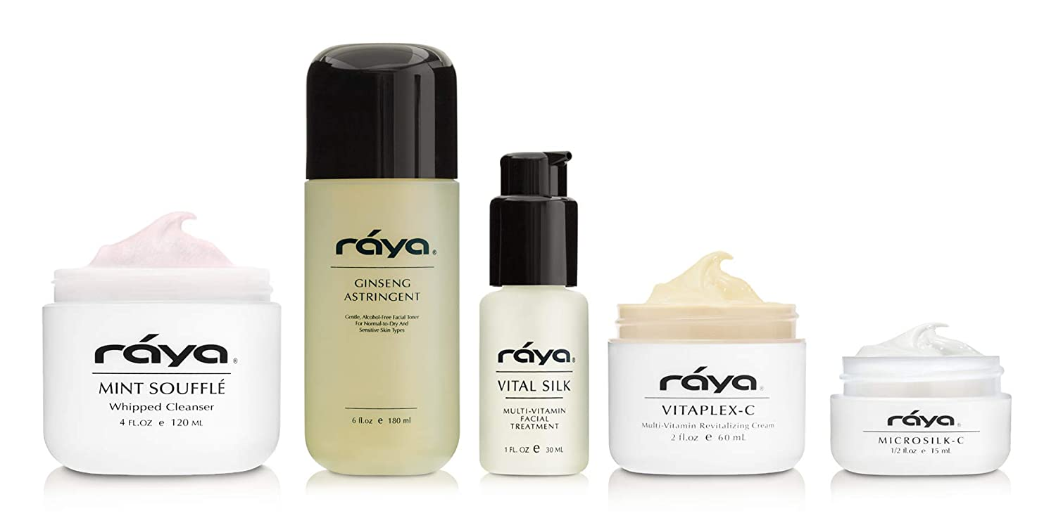 RAYA Normal To Dry Skin Care Kit (K-2)   5 Piece Set of Best Selling Products for Normal to Dry Skin   Includes Cleanser, Toner, Moisturizer, Eye Cream, and Serum