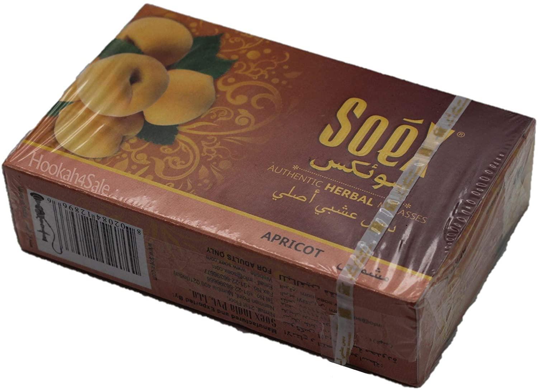 Soex Apricot Herbal Shisha Molasses for Hookah Pipe Narguile 50 gr