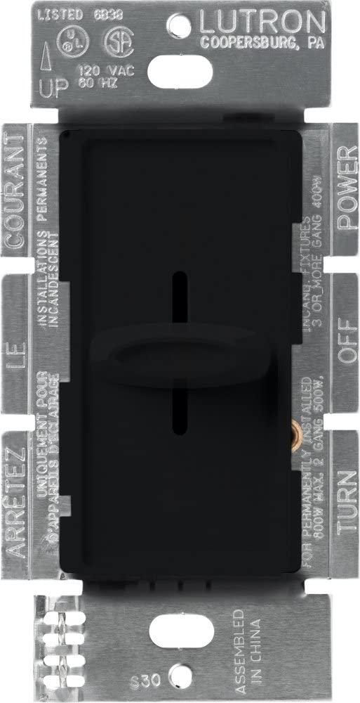 Lutron S-600-BL LIGHTING DIMMER, Black