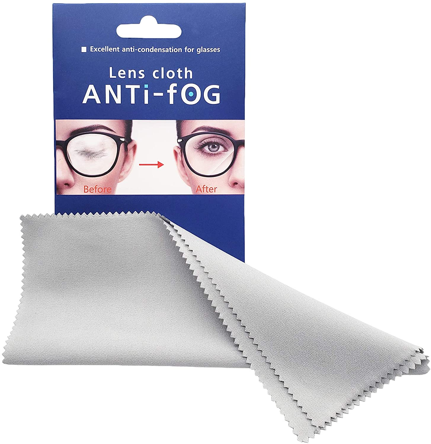 Anti-Fog Microfiber Cleaning Cloth Wipes for Eyeglasses, Sunglasses, Goggles, Helmets, Camera Lens, Mirrors and Other Delicate Surfaces