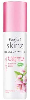 EVERSOFT SKINZ Skinz Blossom White Toning Lotion 100ml -Refined pores. Radiant Clear Skin. Skin is Primed for moisturiser.