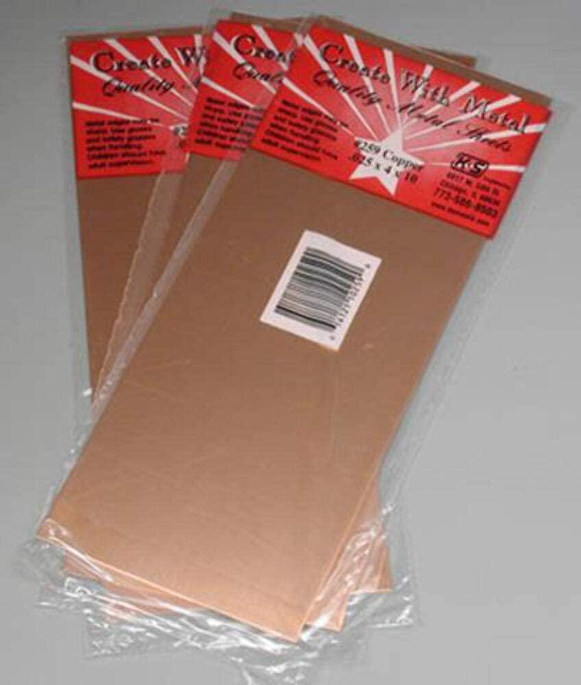 K & S PRECISION METALS 259 .025x4x10 COP SHT Metal