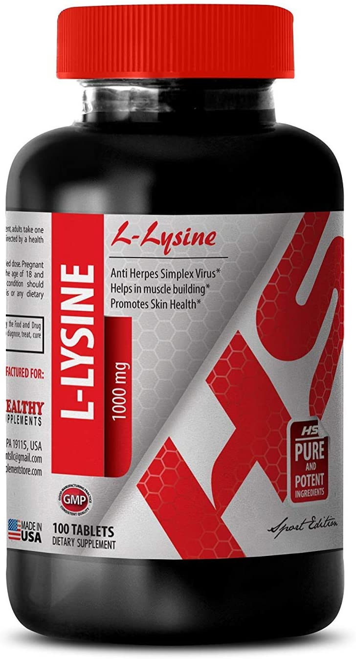 L-lysine Bulk Supplements - L-LYSINE Supplement 1000 MG - for Weight gain (1 Bottle)