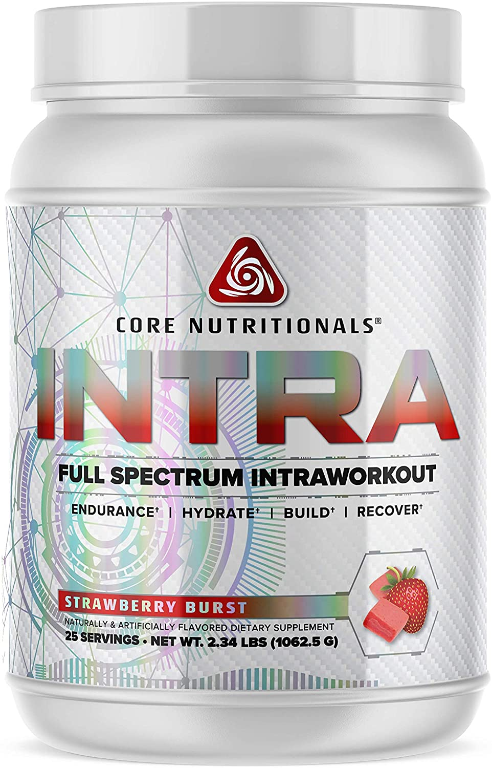 Core Nutritionals Intra Full Spectrum Intraworkout Platinum 25 Servings (Strawberry Burst)