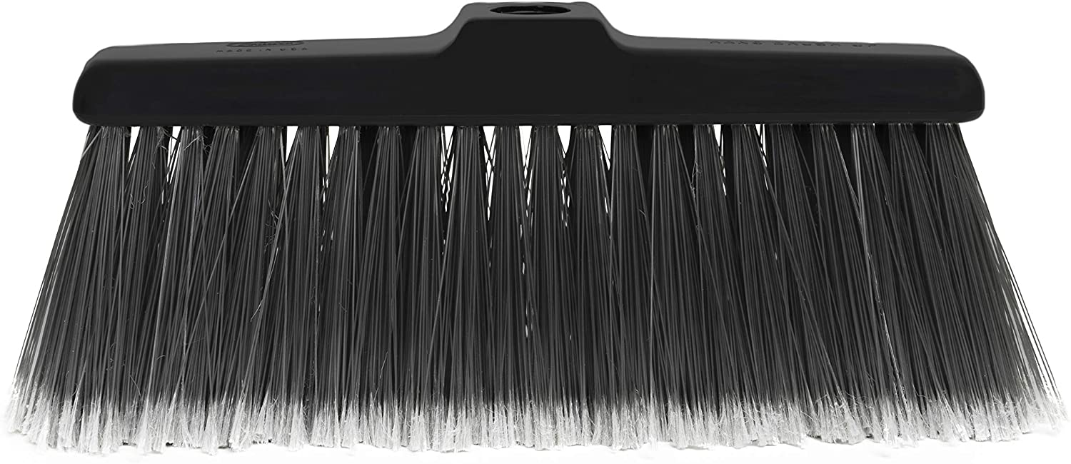 Fuller Brush Kitchen Broom Head - Heavy Duty Floor Sweeper with Fine Long Bristles - Dust Sweeping for Home/Commercial Kitchen & Warehouse Floors – Made in USA (Head for Broom Only)