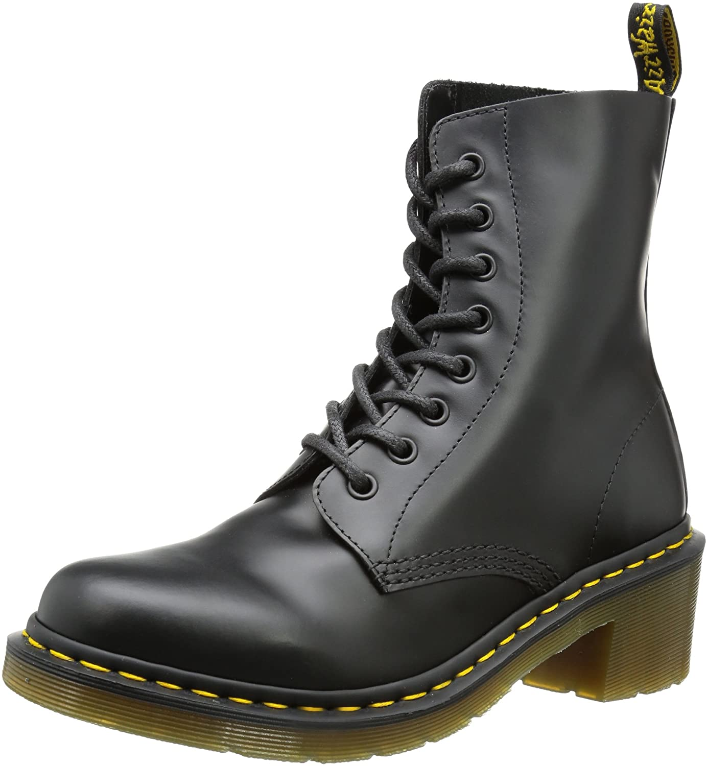 Dr. Martens Women's Clemency Boot,Black Smooth,5 UK/7 M US