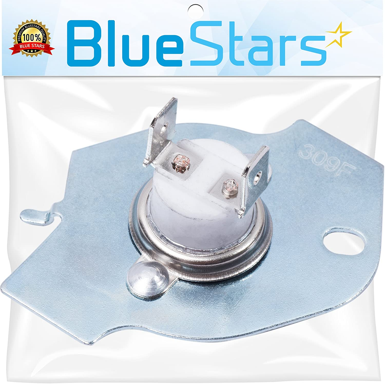 3977393 Dryer Thermal Fuse Replacement by Blue Stars – Exact Fit For Whirlpool & Kenmore Dryers - Replaces AP3094244 3399848 AH334299 279816VP