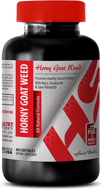 Longjack tongkat ali Extract - Horny Goat Weed All Natural Formula 1560 MG - Increase The Sensitivity (1 Bottle)