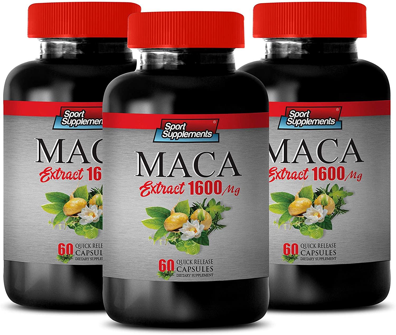 antioxidant Supplements for Men - Brain and Memory Supplements - MACA Extract 1600 MG - maca Root Gel Capsules - 3 Bottles 180 Capsules