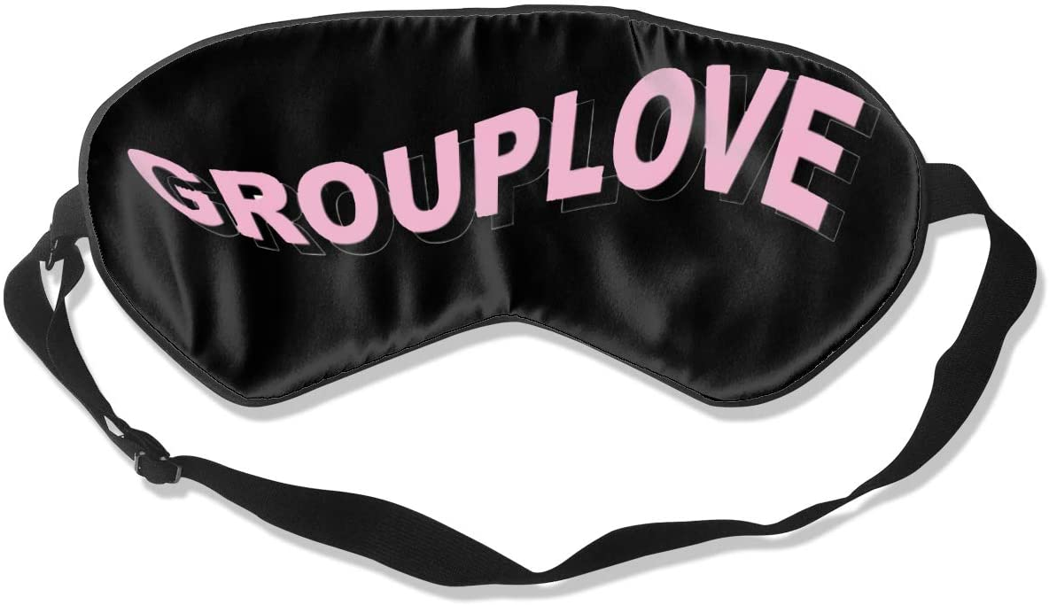 Ktdbthut Grouplove Fashion Sleep Eye Mask Soft Comfortable Unisex with Eye Mask Adjustable Headband