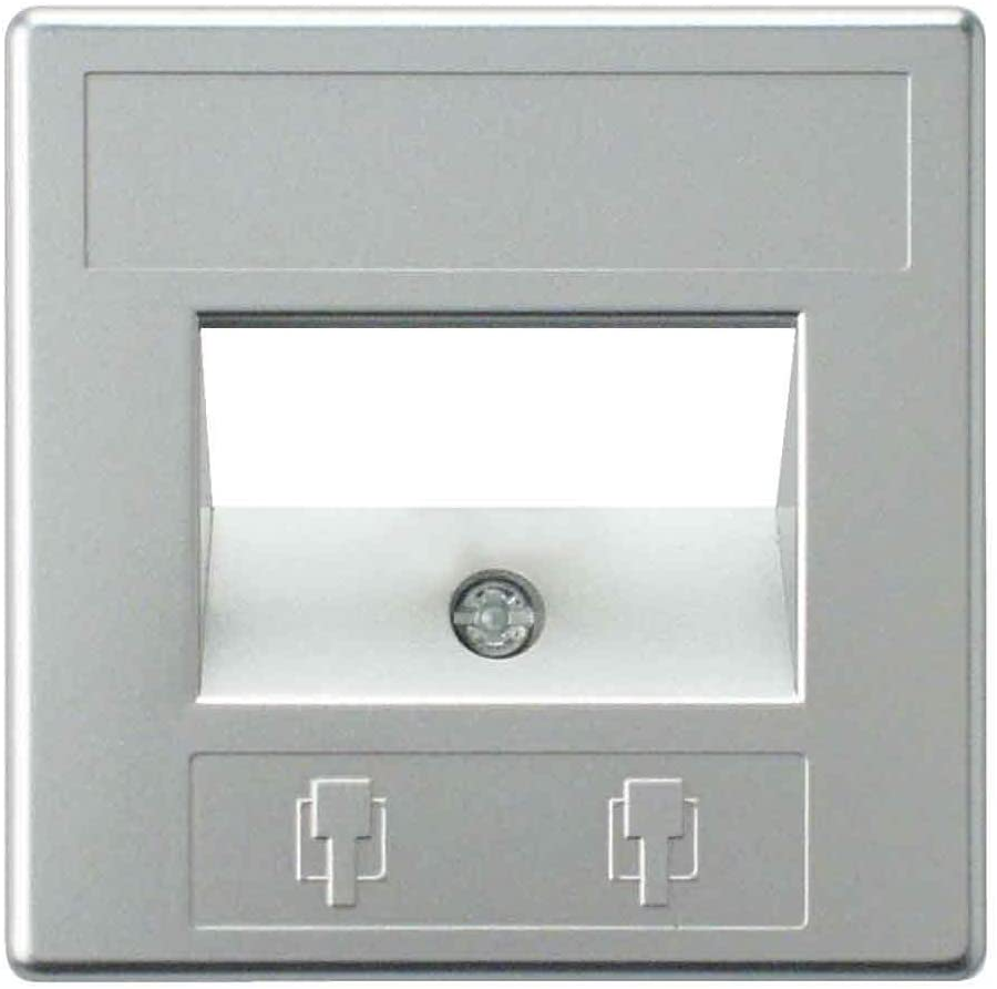 REV Ritter Arcada 0530145555 Lightswitch Cover for 2 Switches Chrome