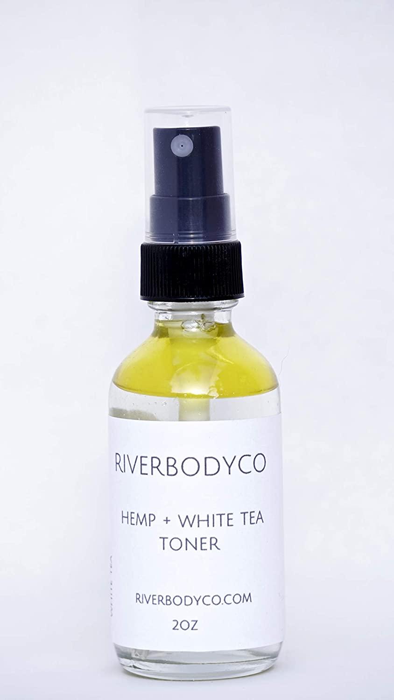 Hemp + White Tea Organic Facial and Body Toner | Organic white tea, aloe vera, raw peppermint, and natural peppermint oil| Skin soother & PH Balance