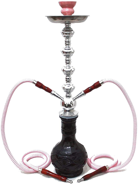 2- Hose Unique Diamond Shisha Style Pink Luxury Pipe hooka - no Tobacco no Nicotine Wholesale Nargila - no Tobacco no Nicotine
