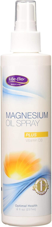 Life-Flo Magnesium Oil Spray W/ Vitamin D3, 8 ounce